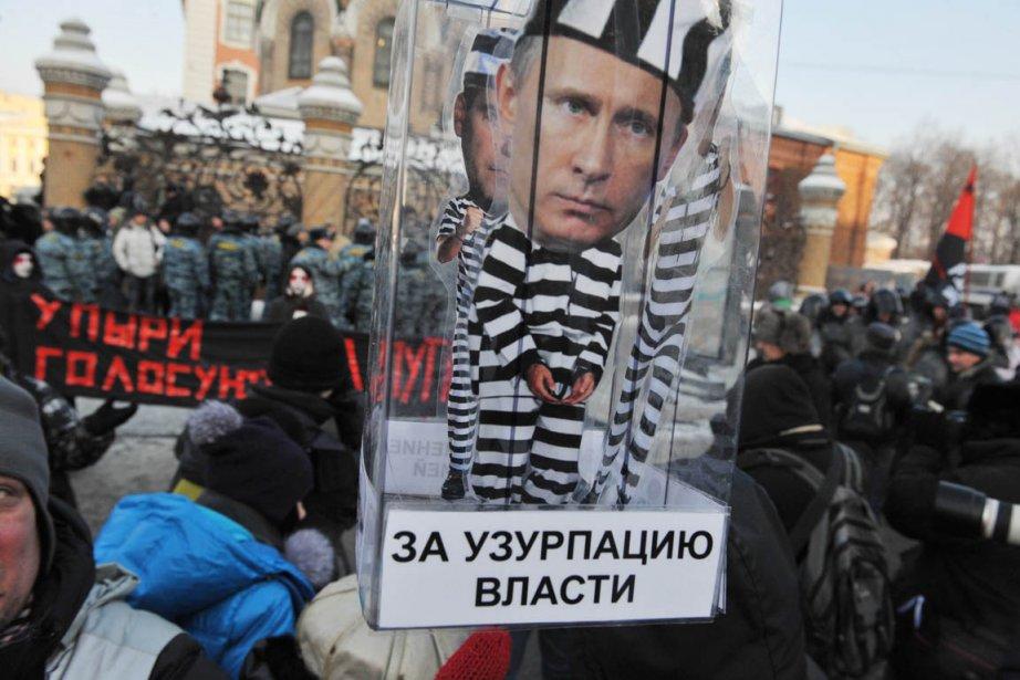 Un contestataire descendu dans les rues du centre-ville... (Photo: Olga Maltseva)