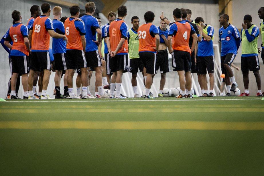 Les joueurs de l'Impact en entraînement.... (Photo: Marco Campanozzi, La Presse (Archives))