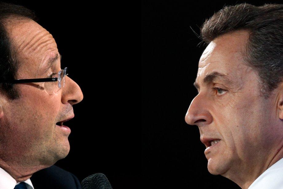 François Hollande etNicolas Sarkozy.... (Photomontage LaPresse.ca)