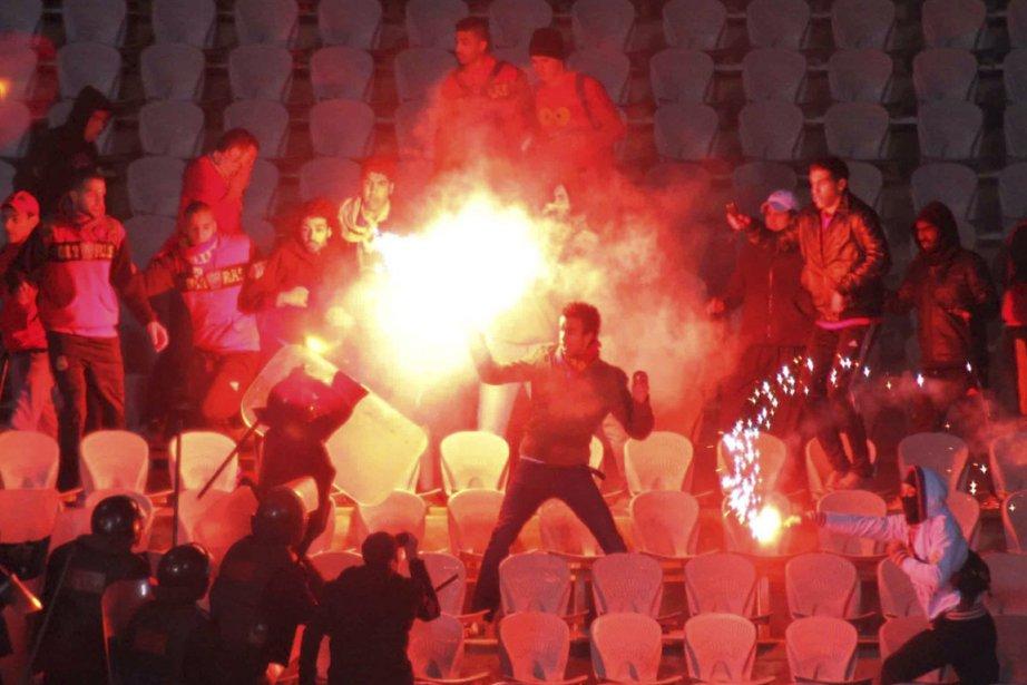 Le 1er février, des partisans du club local... (Photo Reuters)