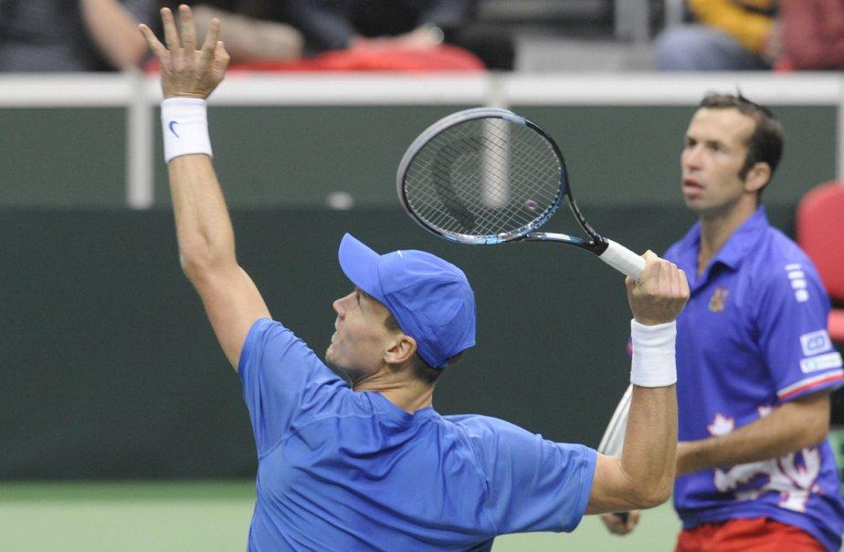 Tomas Berdych (gauche) et Radek Stepanek (droite).... (Photo: AFP)