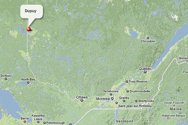 Dupuy, en Abitibi-Témiscamingue... (maps.google.ca)