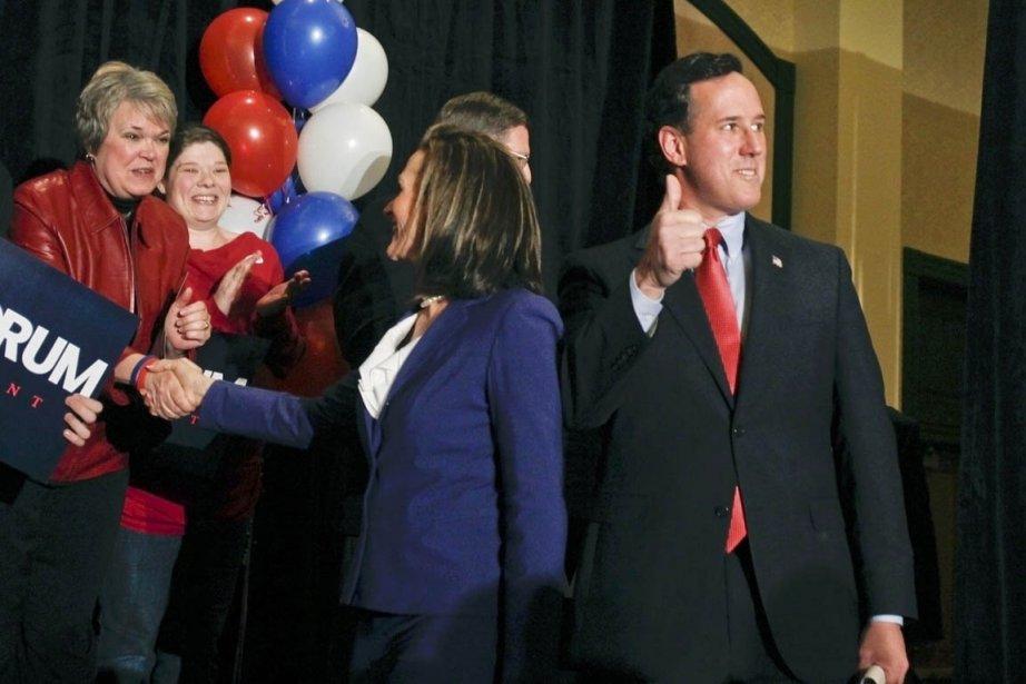 Les chevaux de bataille de l'ultraconservateur Rick Santorum... (Photo: SarahConard, Reuters)