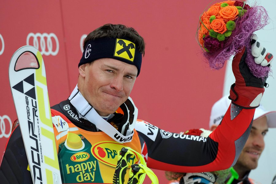 Ivica Kostelic a remporté le super-combiné de Rosa... (Photo: AFP)