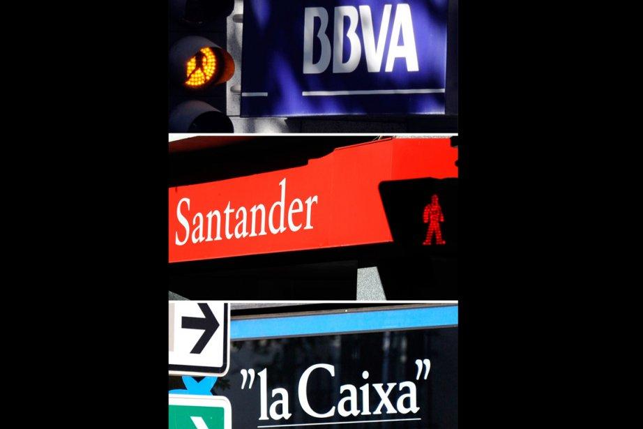 La banque Santander, numéro un en zone euro... (Photo AFP)