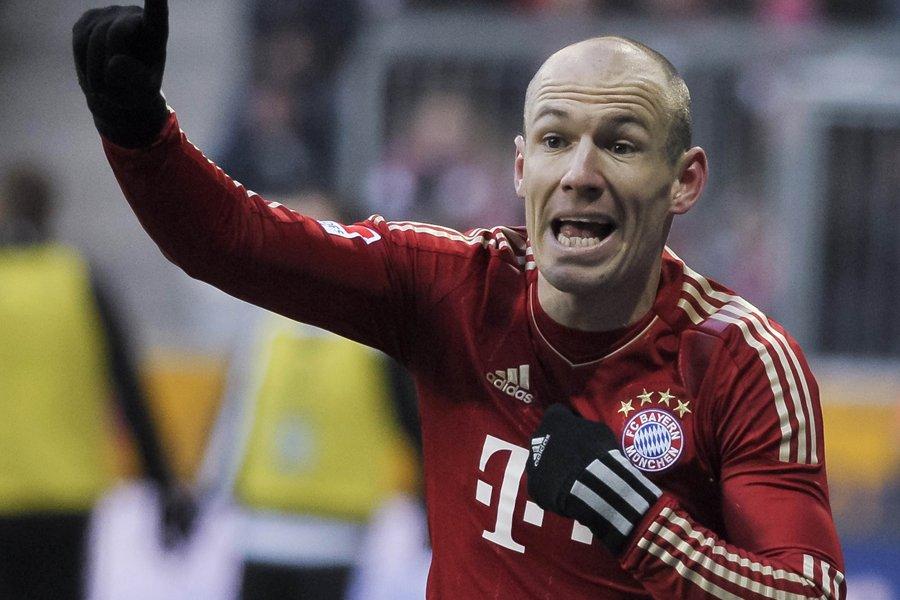 Arjen Robben a été relégué sur le banc... (Photo: AFP)