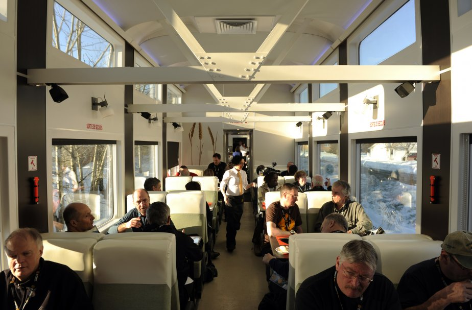 Vue intérieure du train. | 14 février 2012