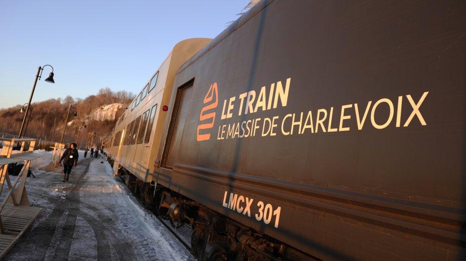 Départ du train aux Chutes Montmorency. | 14 février 2012