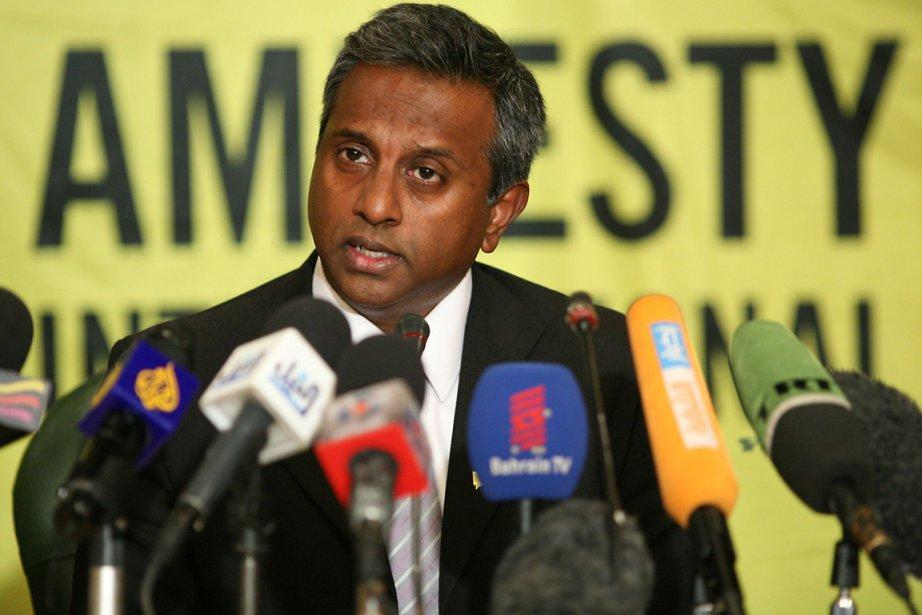 Le secrétaire général d'Amnesty International, Salil Shetty.... (Photo : Pedro Costa, AFP)