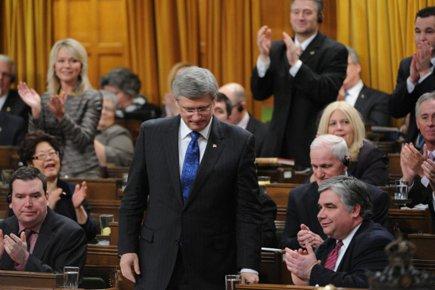 Champagne! Les conservateurs peuvent désormais lever leur verre à... (Photo: PC)