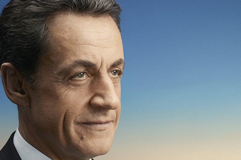 Le président sortant Nicolas Sarkozy sur l'affiche en... (Photo tirée du site officiel du candidat Sarkozy)