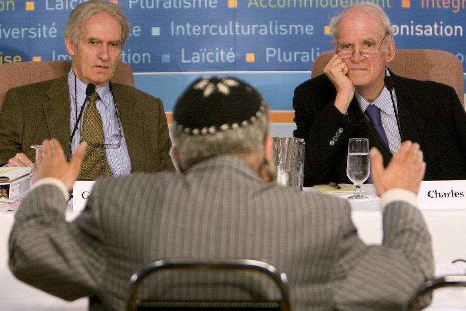 Gérard Bouchard et Charles Taylor en septembre 2007.... (Photo: Patrick Sanfaçon, archives La Presse)