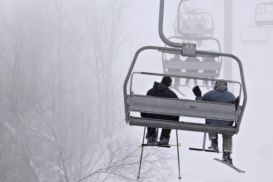 Un télésiège à Ski Bromont.... (Photo: Bernard Brault, archives La Presse)