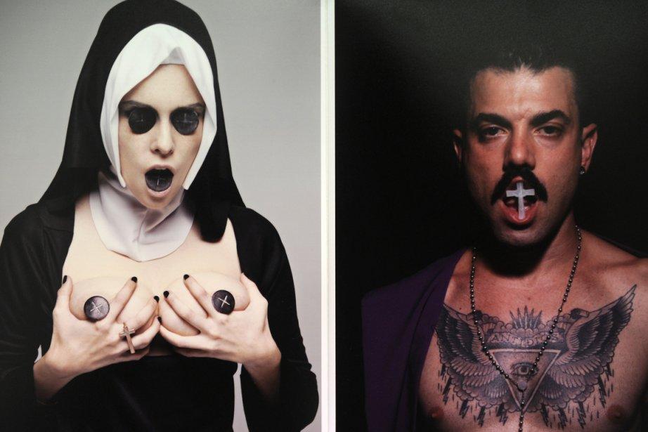 Des photos extraites de l'exposition Obscenity, qui se... (Photo Dominique Faget, AFP)