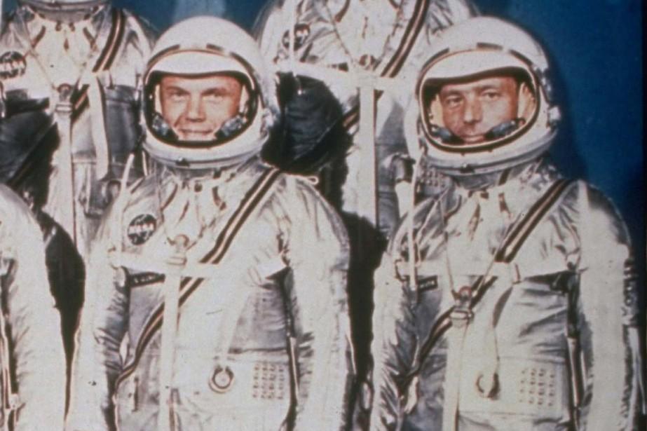 Les astronautes John Glenn et Scott Carpenter en... (Photo AP/NASA)