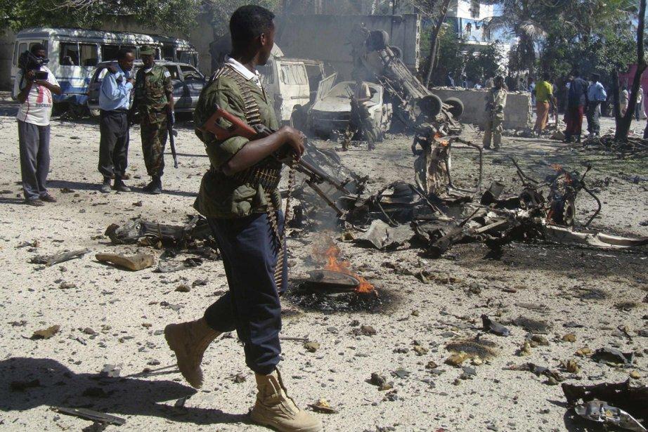 Vendredi, deux personnes avaient été blessées par l'explosion... (Photo AFP)