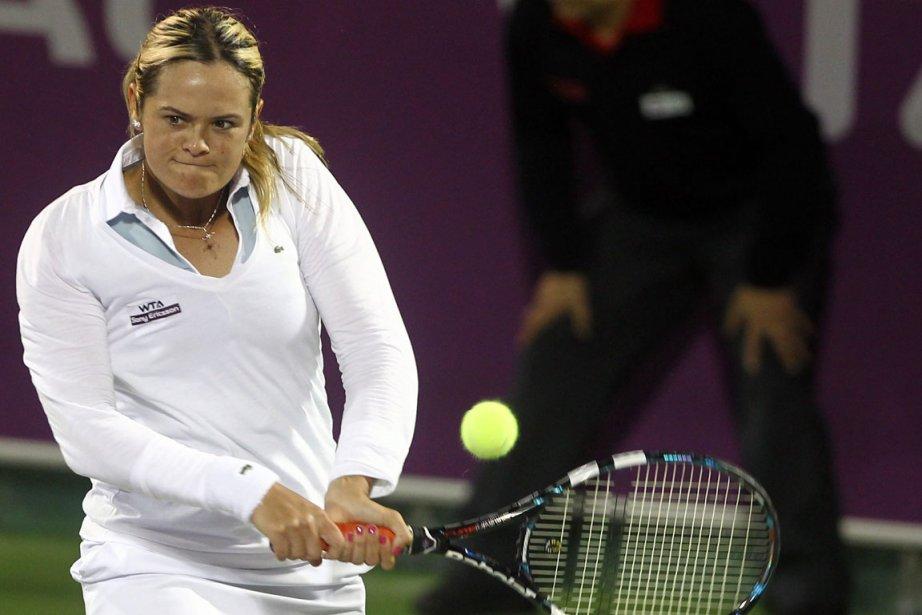 Aleksandra Wozniak a battu l'Indienne Sania Mirza 2-6, 6-3 et 6-2 à... (Photo AP)