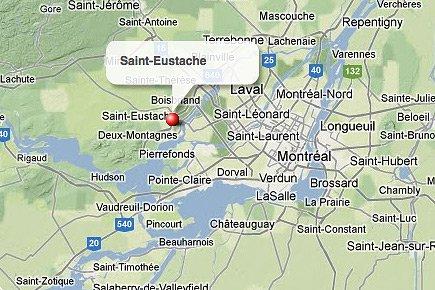 Saint-Eustache, dans les Laurentides.... (maps.google.ca)