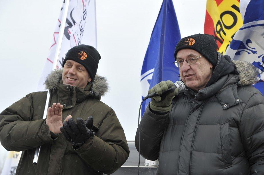 LOCK-OUT JOUR 49 (18 février) Le président du STAA, Marc Maltais, salue l?initiative de ses camarades d?Hamilton, laquelle prévoit le lancement d?une campagne visant à amasser 78 000$. | 20 février 2012