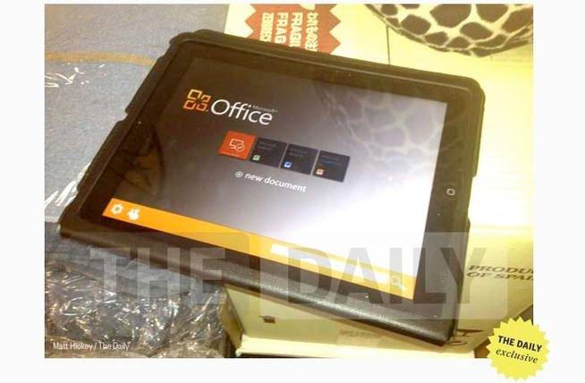 Office serait bientôt lancé pour la tablette d'Apple,... (Photo: The Daily)