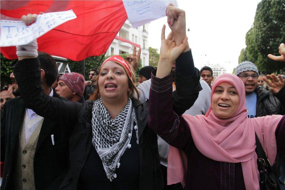 Le 14 janvier dernier, les Tunisiens ont célébré... (Photo AP)