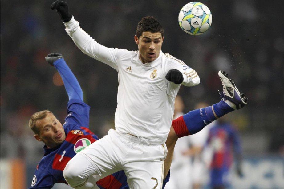 Cristiano Ronaldo, du Real Madrid, a compté son... (Photo : Sergei Karpukhin, Reuters)