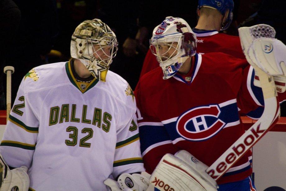 Tête-à-tête entre Carey Price  et Kari Lehtonen. | 21 février 2012
