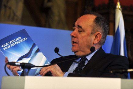 Alex Salmond, chef du Parti National écossais, grand... (Photo: AFP)