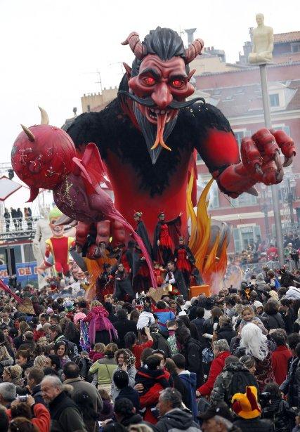 Parade à Nice, en France. | 22 février 2012