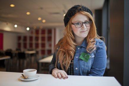 Arielle Grenier, étudiante favorable à la hausse des... (Photo: Édouard Plante-Fréchette, La Presse)