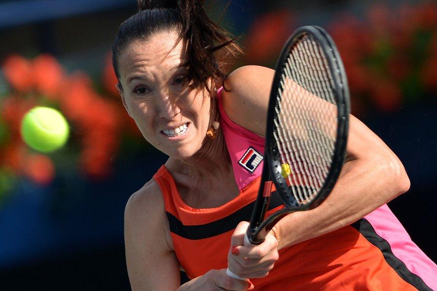 Jelena Jankovic a défait Samantha Stosur en deux... (Photo: AFP)