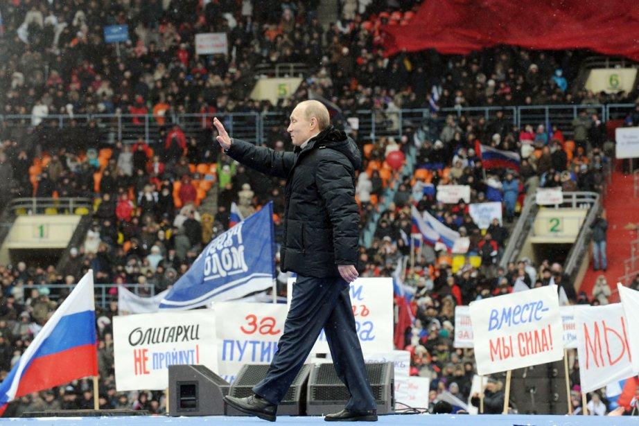 Vladimir Poutine a juré hier à des milliers... (Photo: Yuri Kadobnov, AFP)