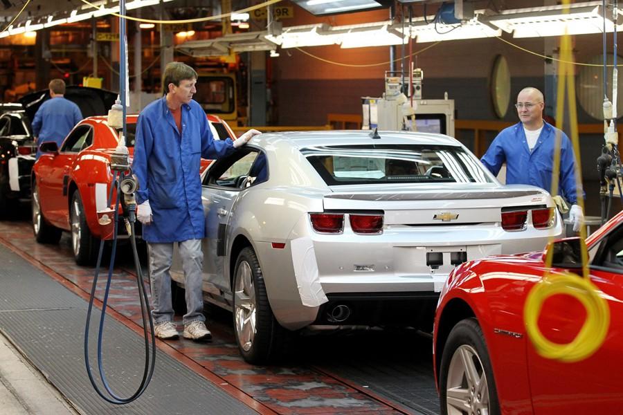 L'usine de GM à Oshawa.... (Photo archives La Presse Canadienne)