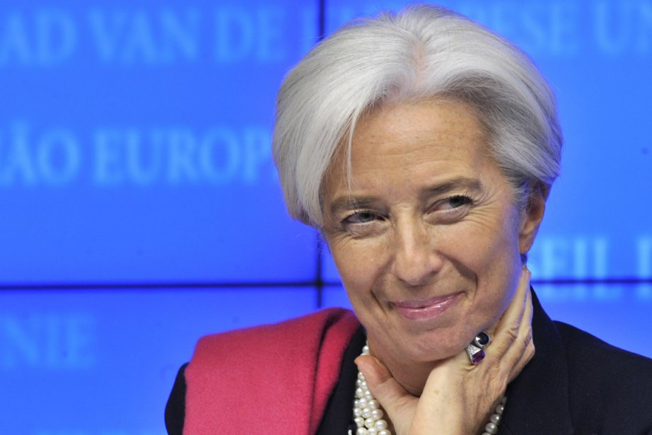 Christine Lagarde a salué les avancées importantes avec... (PHOTO GEORGES GOBET, AFP)