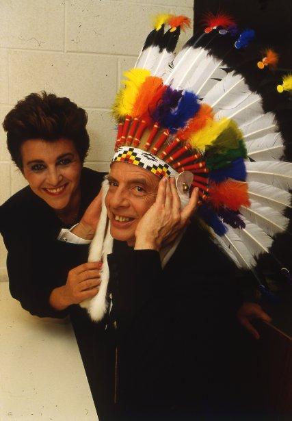 Guy Fournier et Chantal Jolis en 1986. (Photo Robert Mailloux, La Presse)