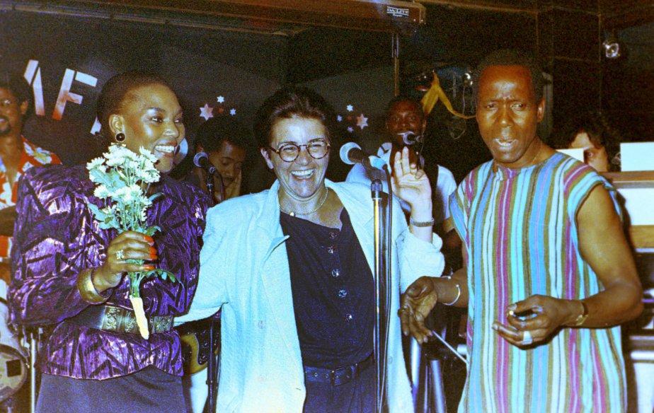 Au Club Balattou avec Lamine Touré (date inconnue). (Photo archives La Presse)