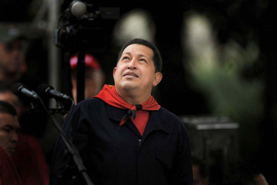 Le président vénézuélien Hugo Chavez... (Photo: Juan Barreto, Archives AFP)