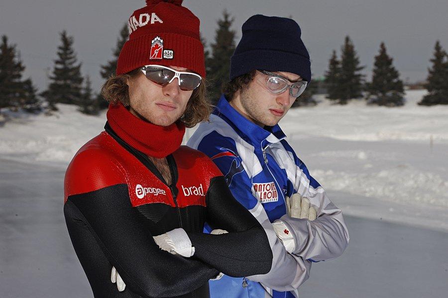 Les patineurs de vitesse longue piste Daniel Dubreuil... (Photo: Mathieu Bélanger, collaboration spéciale)