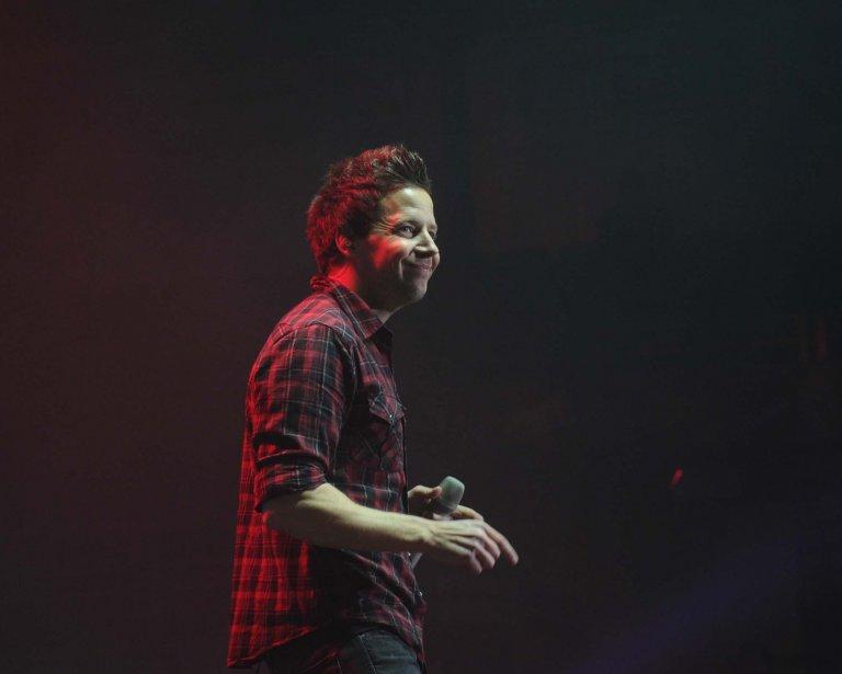 Le chanteur de Simple Plan, Pierre Bouvier.... (Photo: Sylvain Mayer)