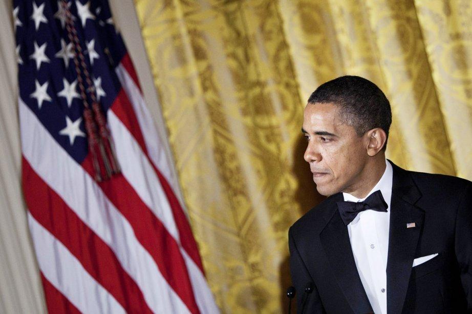 Le 44e président des États-Unis Barack Obama est... (Photo: Brendan Smialowski, AFP)