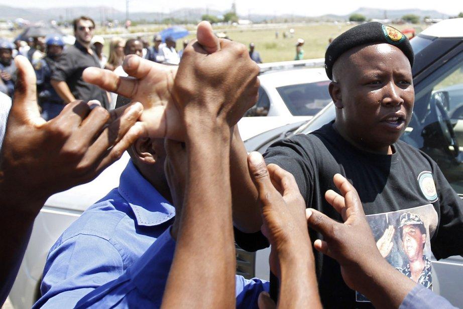 Julius Malema a assuré que son exclusion de... (Photo: Siphiwe Sibeko, Reuters)