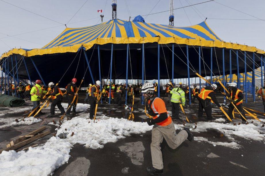 Le Cirque du Soleil a commencé... (Photo: Édouard Plante-Fréchette, La Presse)