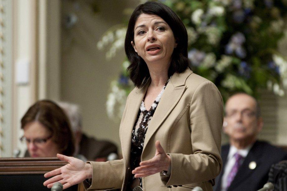 À l'Assemblée nationale jeudi, la ministre de l'Éducation,... (Photo: Jacques Boissinot, PC)