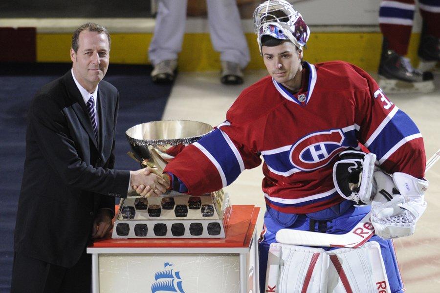 Carey Price a été honoré avant la rencontre... (Photo: Bernard Brault, La Presse)