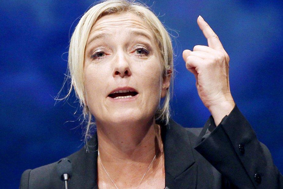 La chef du FN, Marine Le Pen, affirme... (Photo: Valery Hache, Archives AFP)
