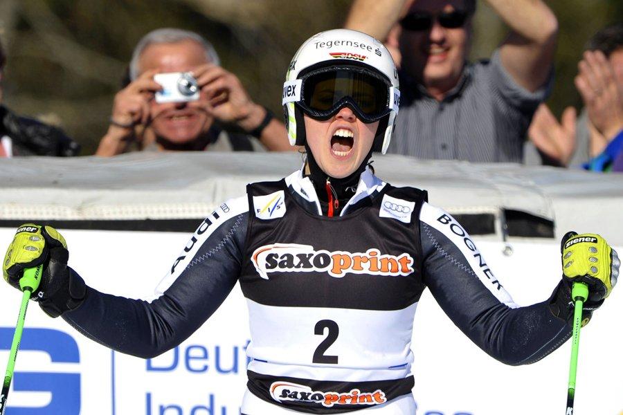 Viktoria Rebensburg... (Photo: AFP)