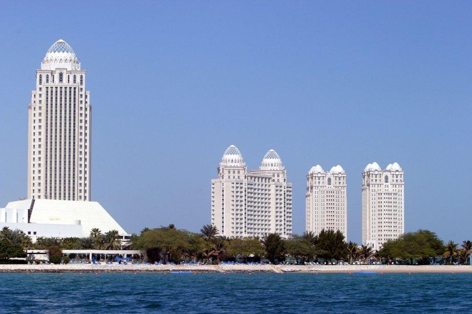 Vue sur le complexe hotelier Four Seasons à... (Photo AFP)