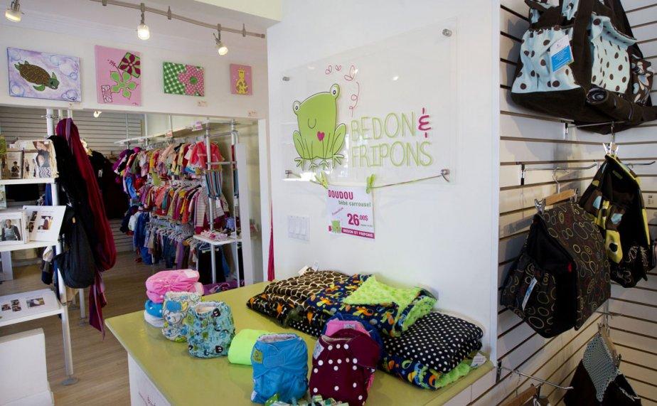 Chez Bedon & Fripons, on y tient une variété de couches, mais aussi des accessoires pour bébé et une petite section friperie pour les enfants de cinq ans et moins. 474, avenue Saint-Charles, 450-218-2550. | 2 mars 2012