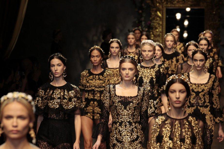 Velours, crocodile, fourrure, cachemire... La semaine de mode de Milan, qui...