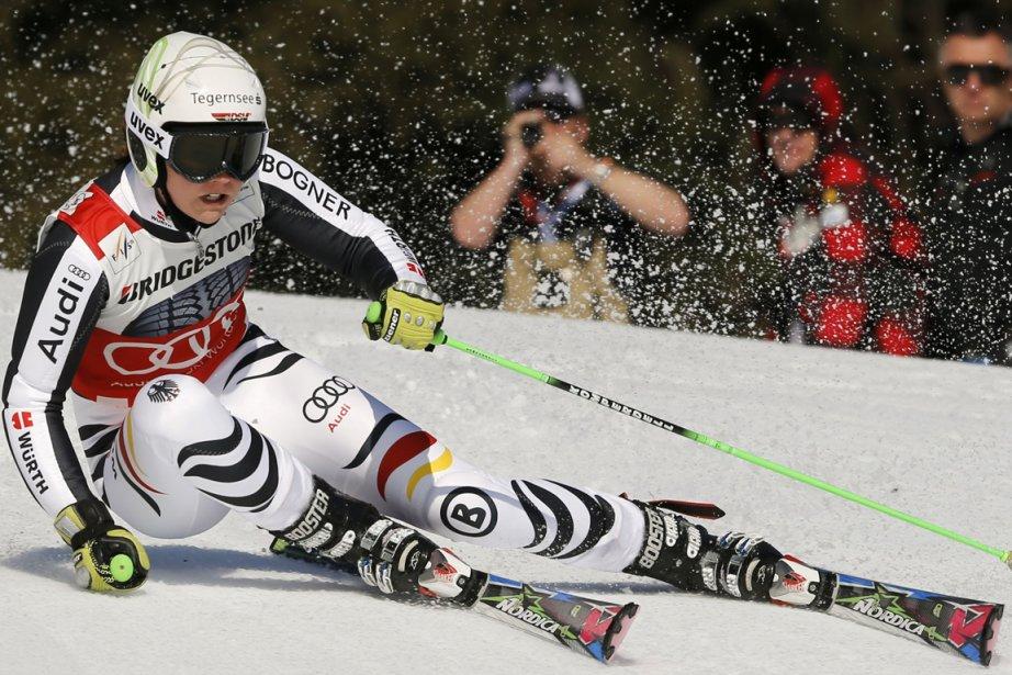 Viktoria Rebensburg... (Photo Reuters)